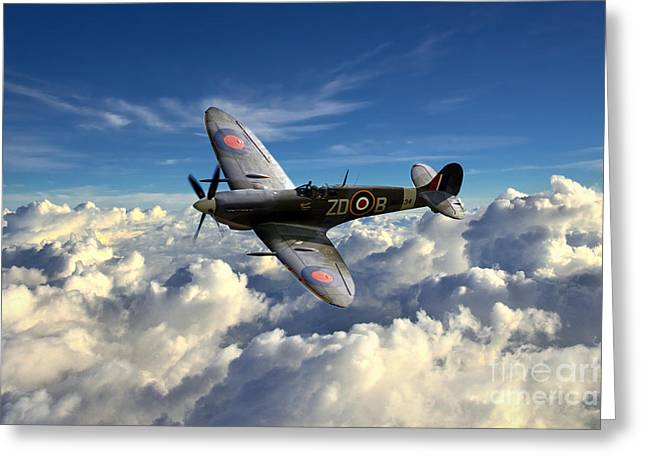 Supermarine Greeting Cards - Spitfire MH434  Greeting Card by J Biggadike
