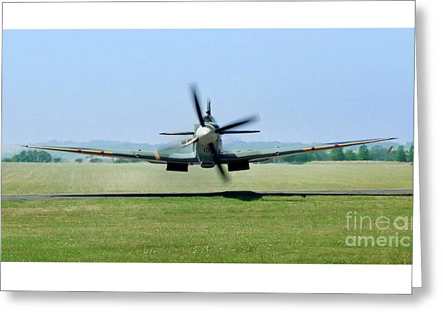 Spitfire Surprise   Close Up Greeting Card by Martin At Gemini Pictures