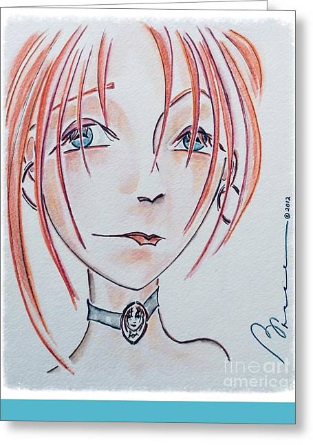 Pensive Greeting Cards - Spitting Image Greeting Card by Barbara Chase