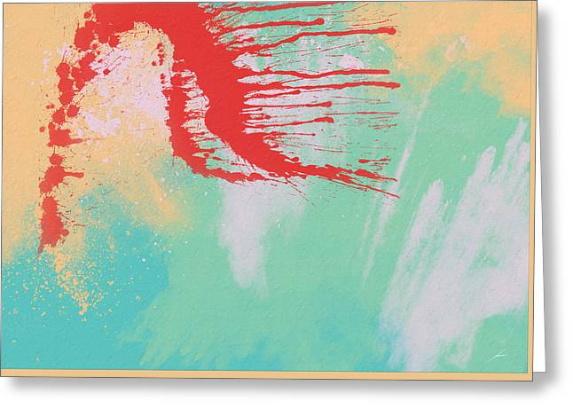 Abstract Expression Greeting Cards - Splah Greeting Card by Diretorio do Design