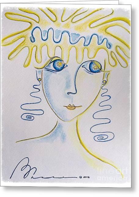 Watching Pastels Greeting Cards - Splash Greeting Card by Barbara Chase