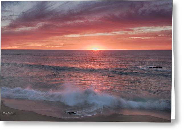 Big Sur Beach Greeting Cards - Splash Greeting Card by Bill Roberts