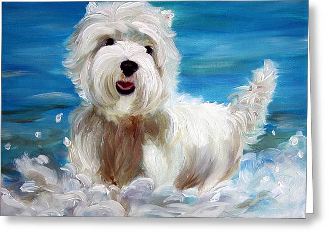 Sea Dog Framed Prints Greeting Cards - Splash Greeting Card by Mary Sparrow