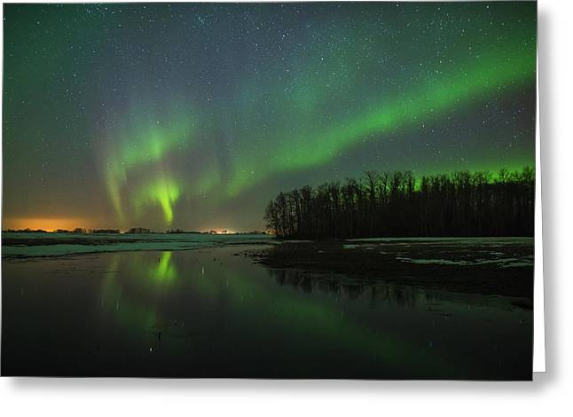 Edmonton Photographer Greeting Cards - Splash of Colour Greeting Card by Mike Isaak