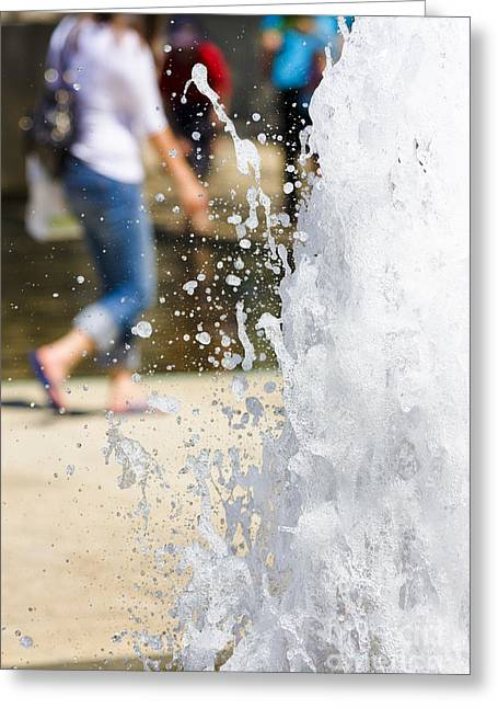 Splashing Out Greeting Card by Jorgo Photography - Wall Art Gallery