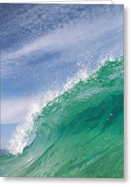Splashing Wave Greeting Card by Panoramic Images