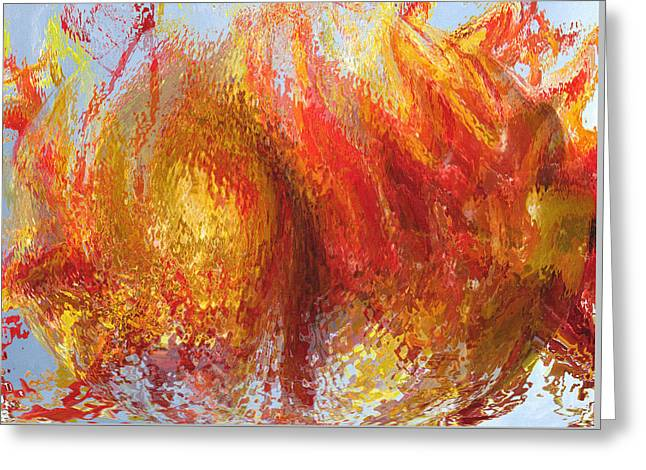 Abstract Digital Digital Greeting Cards - Splattered Paint Greeting Card by Lisa S Baker