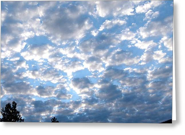 Dazzling Blue Greeting Cards - Splendid Cloudscape 9 Greeting Card by Will Borden