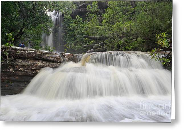 Beautiful Creek Greeting Cards - Splendour of a Waterfall Greeting Card by Leah-Anne Thompson