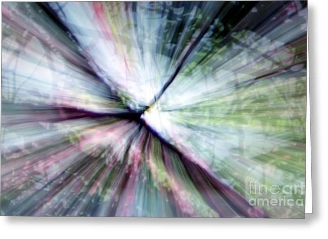 Splintered Light Greeting Card by Balanced Art
