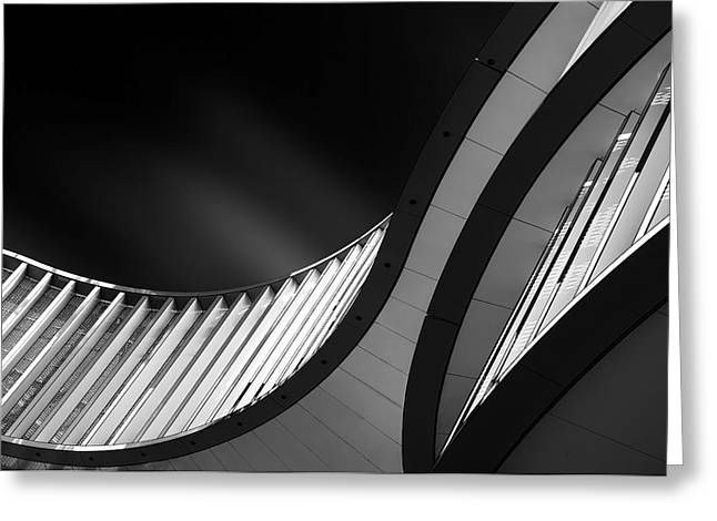 Facade Photographs Greeting Cards - Split Lines Greeting Card by Gerard Jonkman