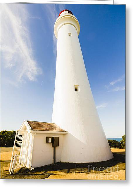 Split Point Lighthouse Greeting Card by Jorgo Photography - Wall Art Gallery