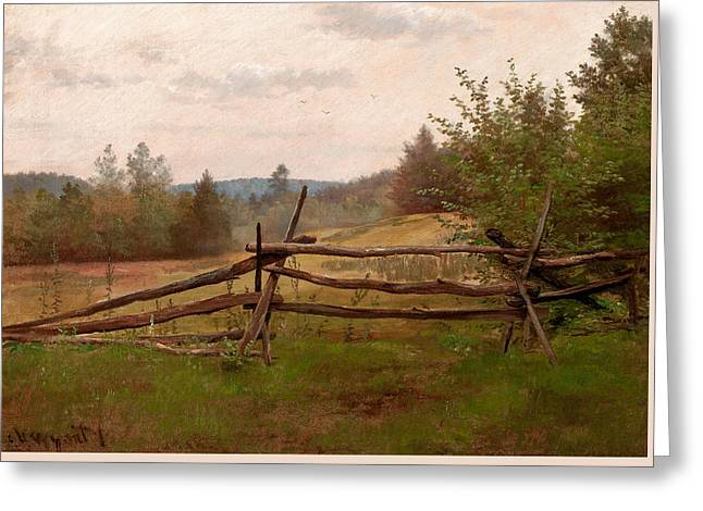 Split Rail Fence Greeting Card by Alexander Helwig Wyant