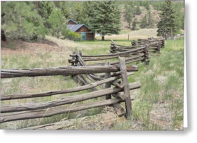 Split Rail Fence Greeting Cards - Split Rail fence Greeting Card by Dennis  Rundlett
