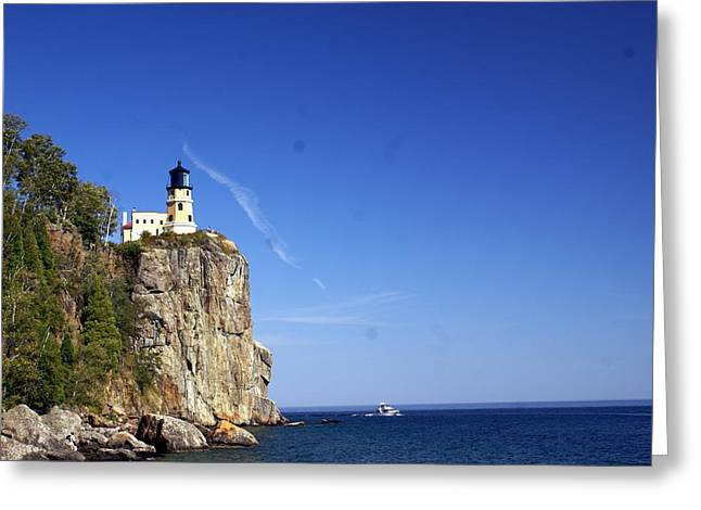 Marty Koch Photographs Greeting Cards - Split Rock 1 Greeting Card by Marty Koch