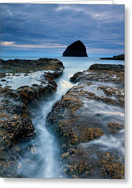 Beach Greeting Cards - Splitting Stone Greeting Card by Mike  Dawson