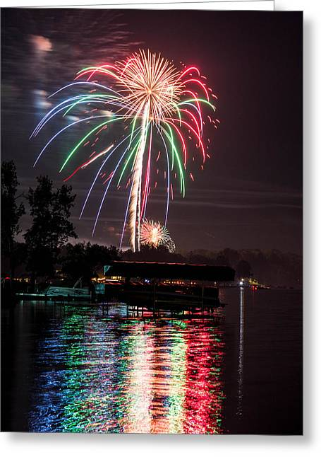 4th July Greeting Cards - Splosion Greeting Card by John McGrady