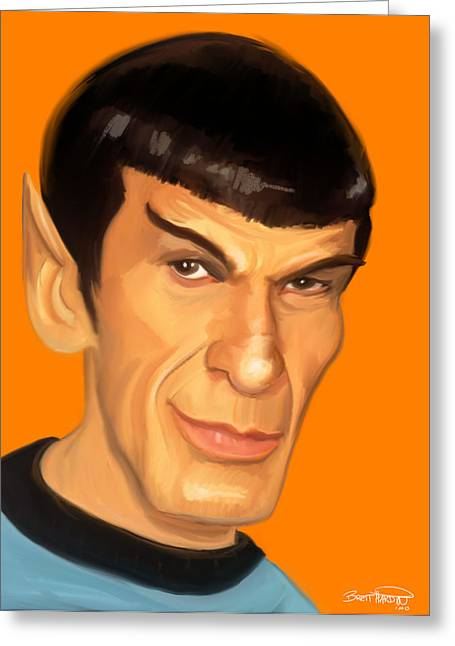 Spock Greeting Cards - Spock Greeting Card by Brett Hardin