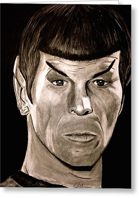 Spock Drawings Greeting Cards - Spock Greeting Card by Jason Swanson