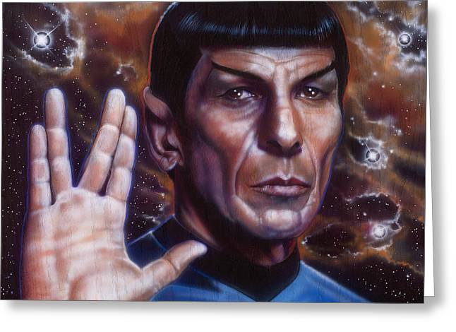 Nimoy Greeting Cards - Spock Greeting Card by Tim  Scoggins