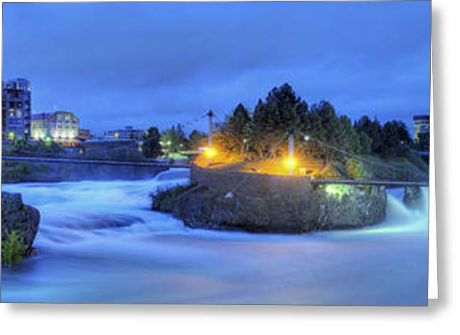 Spokane Falls Greeting Card by Michael Gass