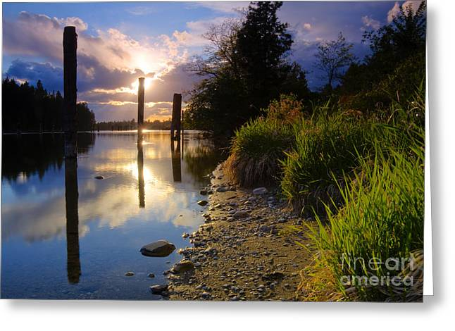 Spokane Greeting Cards - Spokane River Greeting Card by Idaho Scenic Images Linda Lantzy