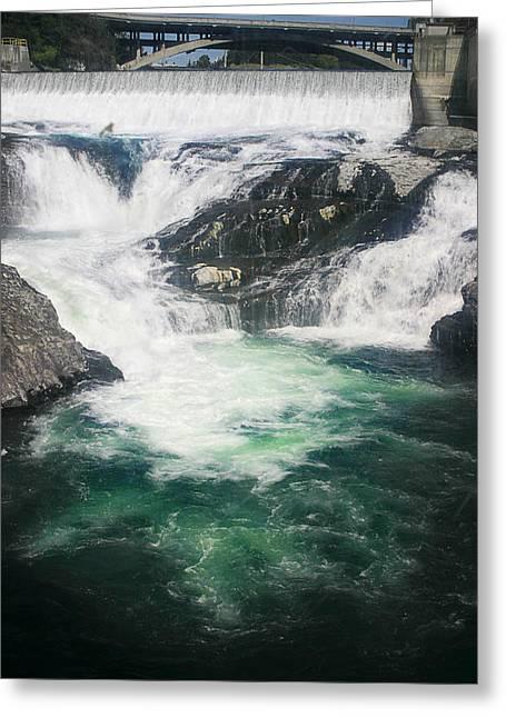 Spokane Greeting Cards - Spokane Waterfalls Greeting Card by Anthony Jones
