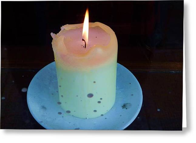Candle Lit Greeting Cards - Spookicandle Greeting Card by Lisa Ferguson
