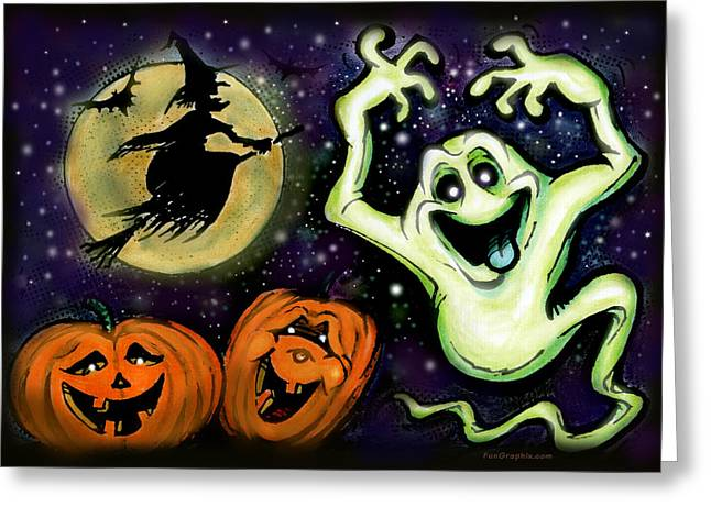 Spooky Greeting Card by Kevin Middleton