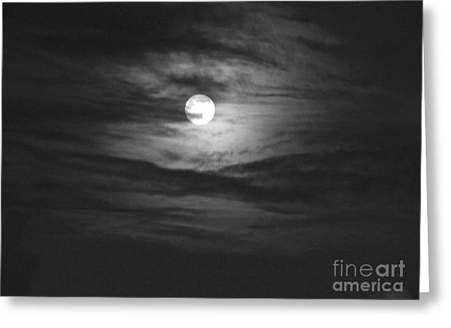 Mary Deal Greeting Cards - Spooky Moon 2 Greeting Card by Mary Deal