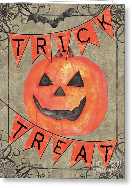 Spooky Pumpkin 1 Greeting Card by Debbie DeWitt