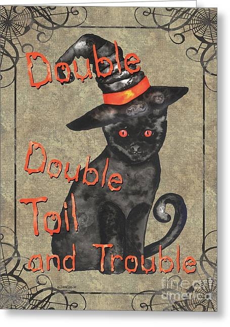 Spooky Pumpkin 3 Greeting Card by Debbie DeWitt