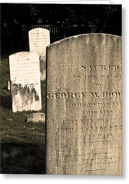Spooky Tombstones. Greeting Card by Robert Ponzoni
