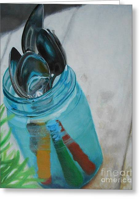 Kitchen Photos Paintings Greeting Cards - Spoons Greeting Card by Clairessa Walker