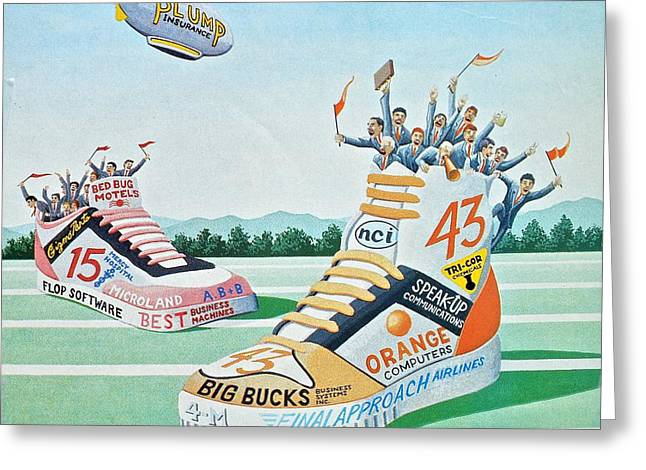 Editorial Drawings Greeting Cards - Sport Shoe Illustration Greeting Card by John Houseman