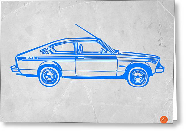 Whimsical. Greeting Cards - Sports Car Greeting Card by Naxart Studio