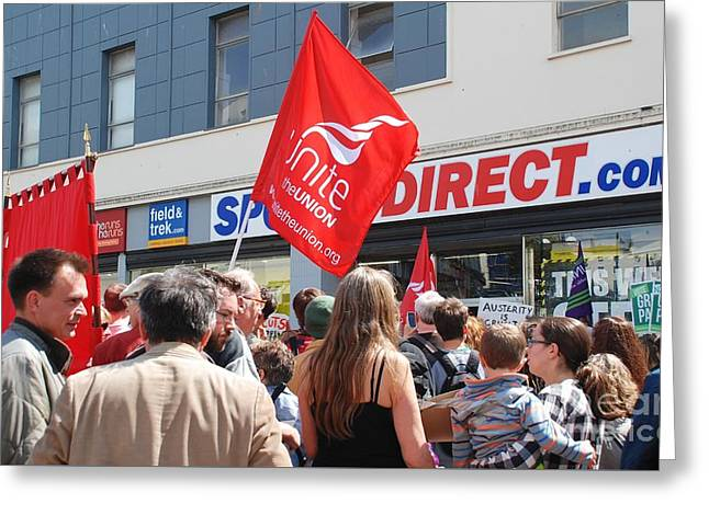Anti Greeting Cards - Sports Direct protest at Hastings Greeting Card by David Fowler