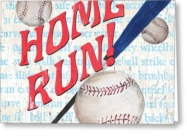 Sports Fan Baseball Greeting Card by Debbie DeWitt