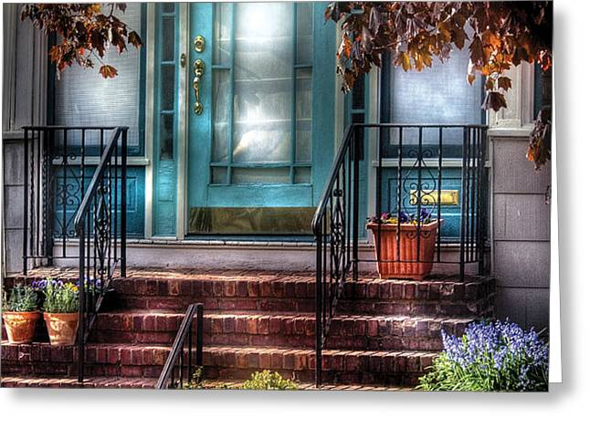 Spring - Door - Apartment Greeting Card by Mike Savad