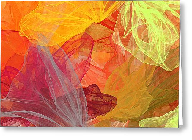 Spring Abundance - Spring Colors Abstract Art Greeting Card by Lourry Legarde