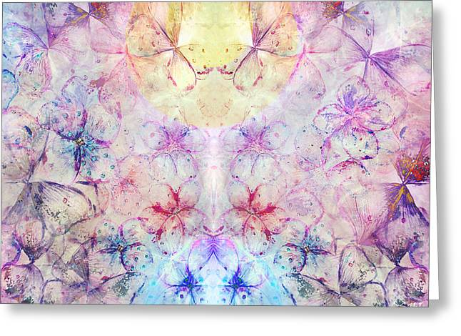 Macrocosm Mixed Media Greeting Cards - Spring and butterflies Greeting Card by Anastasia Shikina