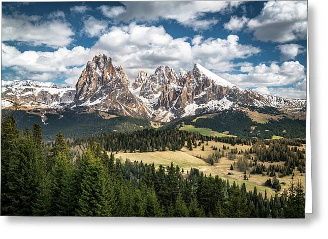 Spring At Alpe Di Suisi Greeting Card by James Udall