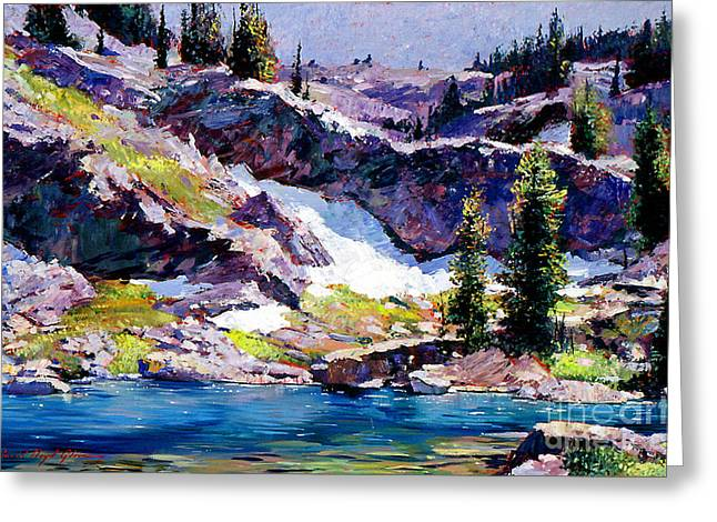 Alpine Paintings Greeting Cards - Spring at Jade Lake Greeting Card by David Lloyd Glover