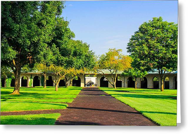 Spring At Keeneland Greeting Card by Rachel Narvaez