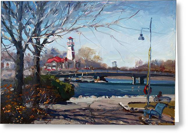 Lakeshore Greeting Cards - Spring at Port Credit Greeting Card by Ylli Haruni