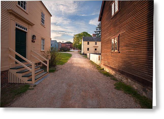 Historic Home Greeting Cards - Spring at Strawbery Banke Greeting Card by Eric Gendron