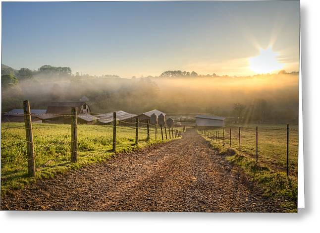 Spring At The Farm Greeting Card by Debra and Dave Vanderlaan
