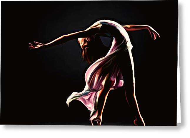 Prima Ballerina Digital Art Greeting Cards - Spring Ballet Greeting Card by Larry Espinoza