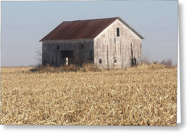 Indiana Springs Greeting Cards - Spring Barn Greeting Card by Michael L Kimble
