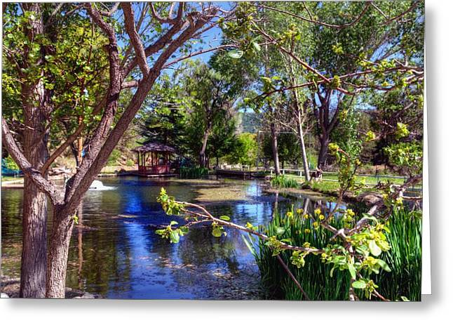 Blue Green Water Greeting Cards - Spring Beauty Greeting Card by Thomas  Todd